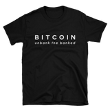 Bitcoin Tshirt 'Unbank the Banked' Black