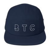 BTC Bitcoin Currency Baseball Hat in Navy with White Embroidery