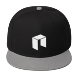 NEO Snapback Baseball Hat Black with Grey Visor