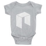 The NEO Logo Baby Onesie Heather Grey