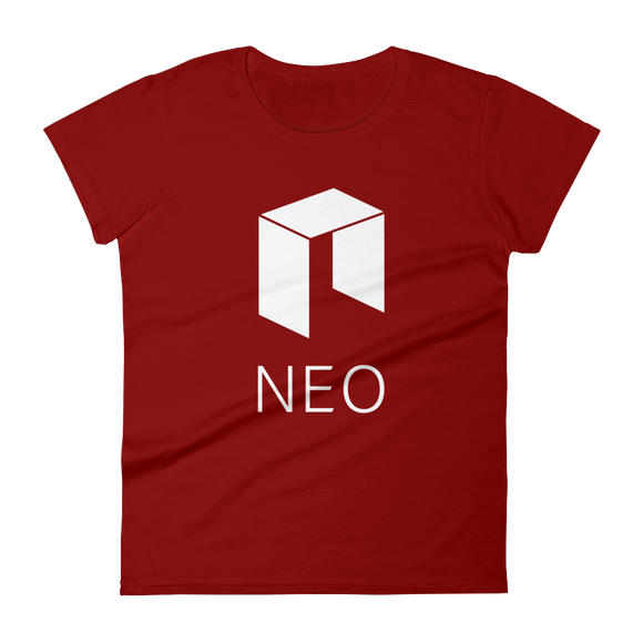 NEO Logo Ladies Tshirt Burgundy