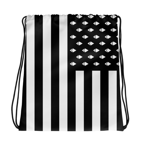 Ethereum American Flag Drawstring Bag - Nakamoto Clothing Co.