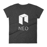 NEO Logo Ladies Tshirt Dark Heather Grey