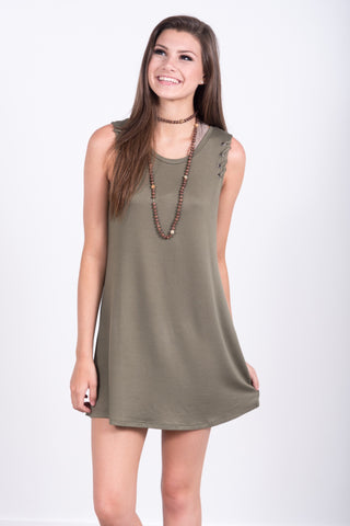 All In the Details Dress in Khaki