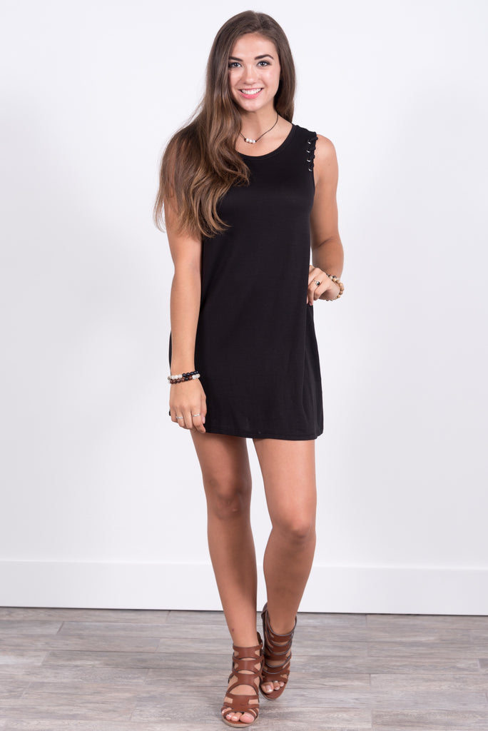 All In the Details Dress in Black