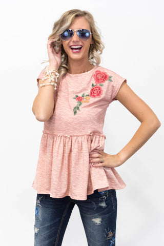 **SALE** Blossom Top in Coral