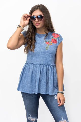 **SALE** Blossom Top in Denim