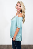 Flutter Piko Top in Seafoam