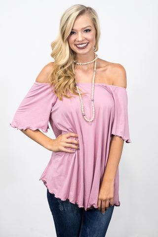 Flutter Piko Top in Mauve