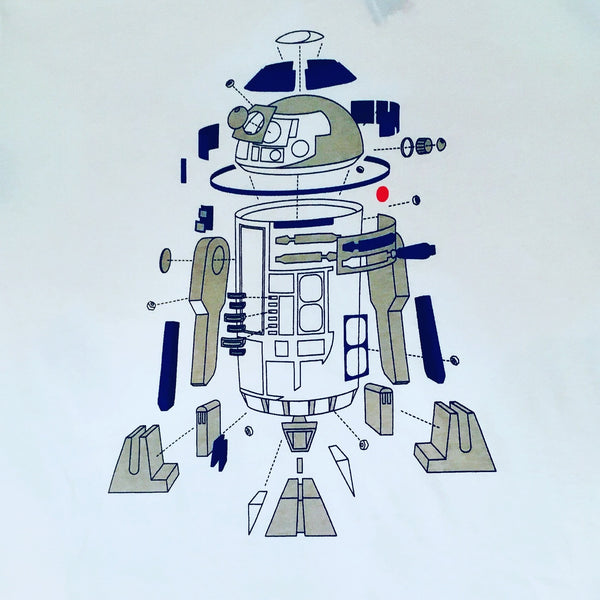 R2D2 Deconstructed Star Wars T-shirt