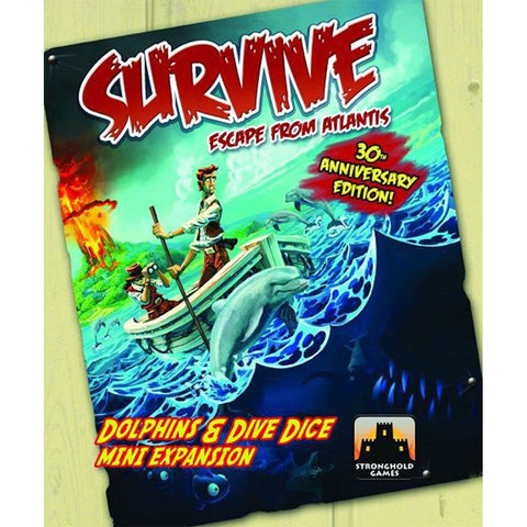 Survive: Escape from Atlantis! Dolphins & Dive Dice Mini Expansion