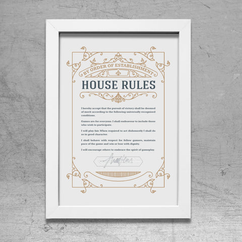 House Rules A4 Poster
