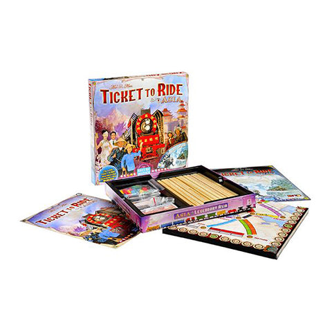 Ticket To Ride Asia Map.Ticket To Ride Asia Legendary Asia Map Expansion Rollers Board