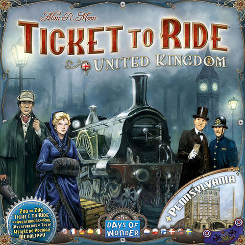 Ticket to Ride: United Kingdom & Pennsylvaia Map Expansion