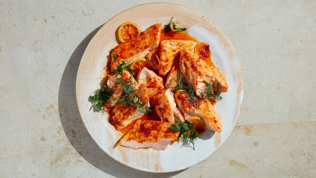 Recipe: Slow-Roasted Salmon with Harissa