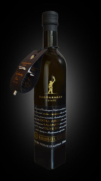 Dandaragan Estate Ultra Premium Extra Virgin Olive Oil EVOO Kalamata King 500ml Bottle Pourer