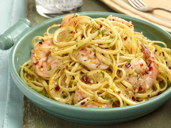 Dandaragan Estate Ultra Premium Extra Virgin Olive Oil EVOO Linguine Shrimp Scampi