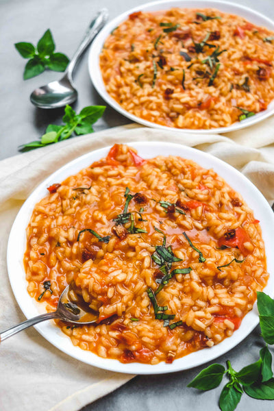 Dandaragan Estate Ultra Premium Extra Virgin Olive Oil EVOO Recipe Tomato Basil Risotto