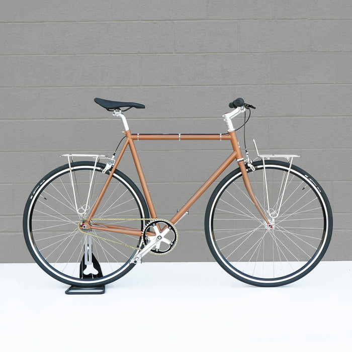 Wabi Commute in Copper Color with Racks | Single Speed Bikes & Fixed Gear Bicycles | Wabi Cycles in Tulsa, OK