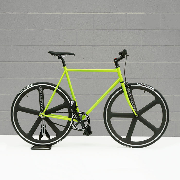 2018 Wabi Urban bicycle in electric green | Urban fixie fixed gear bicycles