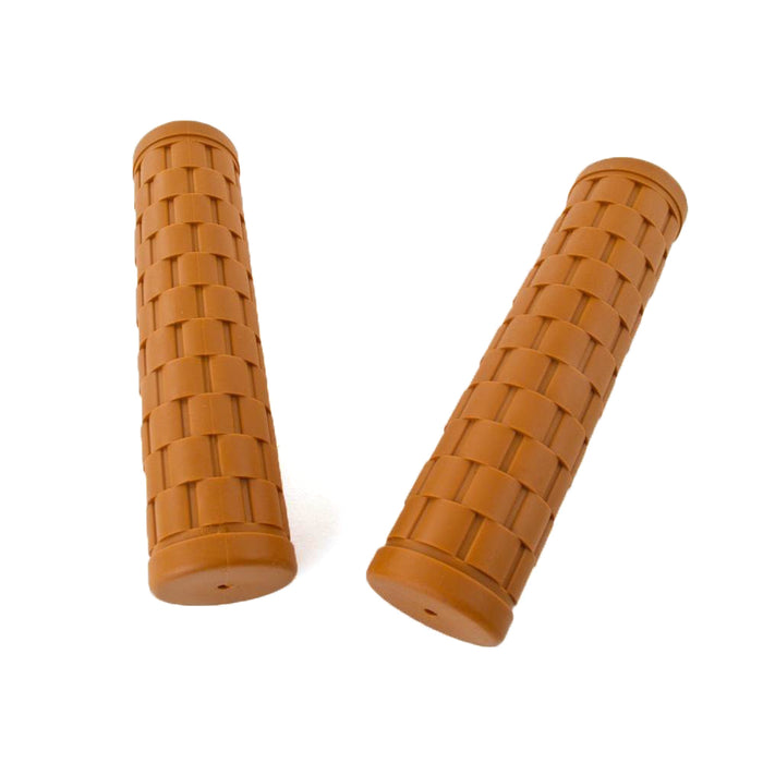 Velo Orange Kraton Basket Weave Grips, Honey