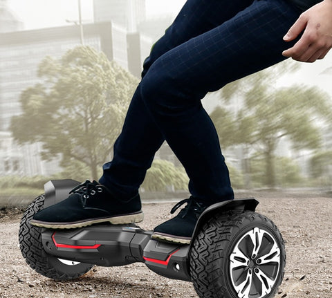 Ride on a hoverboard