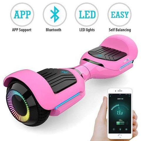 Gyroor hoverboard with bluetooth, led lights, speakers and APP