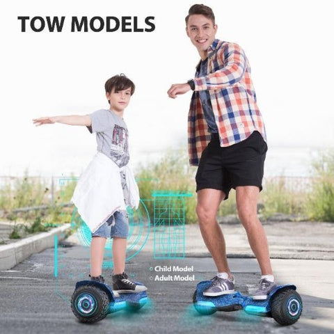 kid and adult ride on gyroor hoverboard