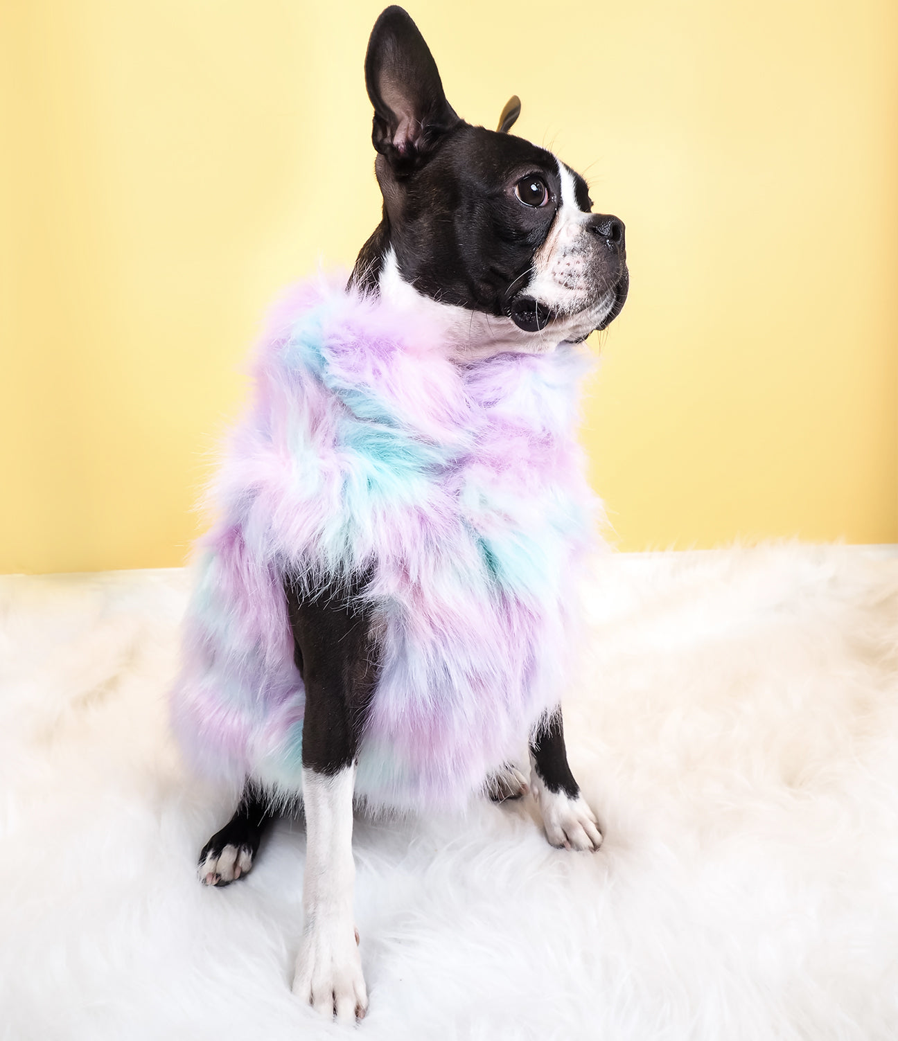 MARSHMALLOW FAUX FUR JACKET