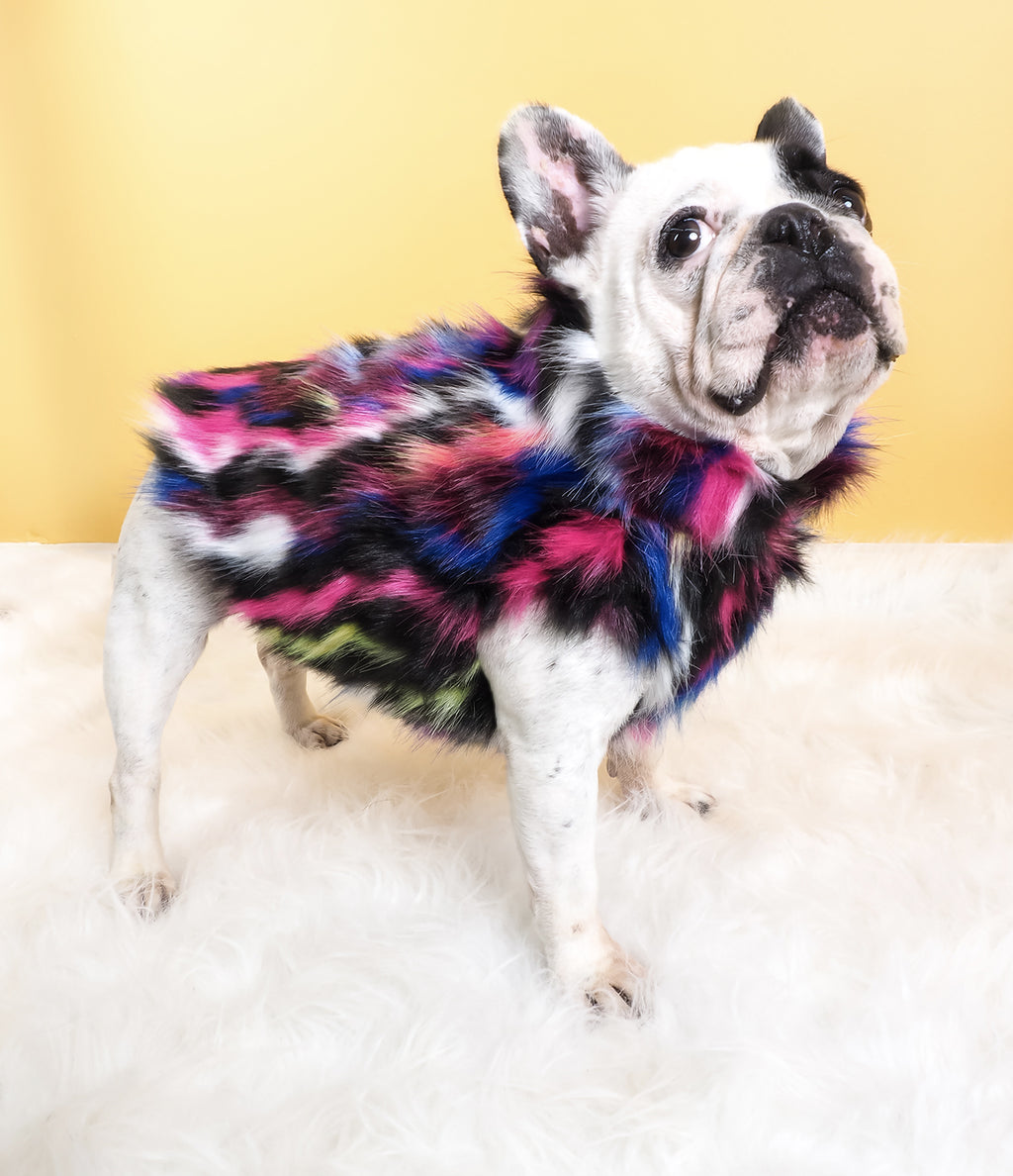 NEON DREAMS FAUX FUR JACKET