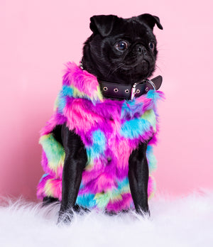 POPPING CANDY FAUX FUR JACKET