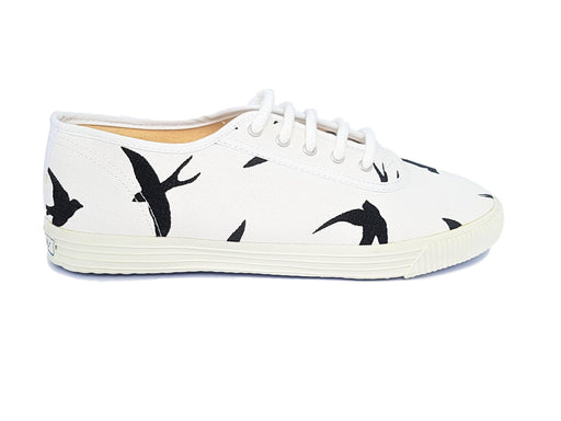 Startas black birds vegan canvas sneakers