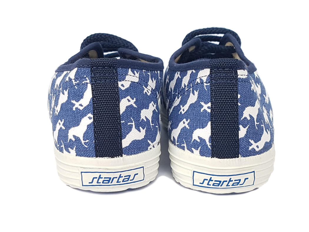 Startas blue unicorn vegan canvas sneaker