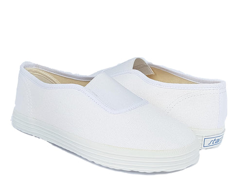 Cvix white canvas kids vegan shoes