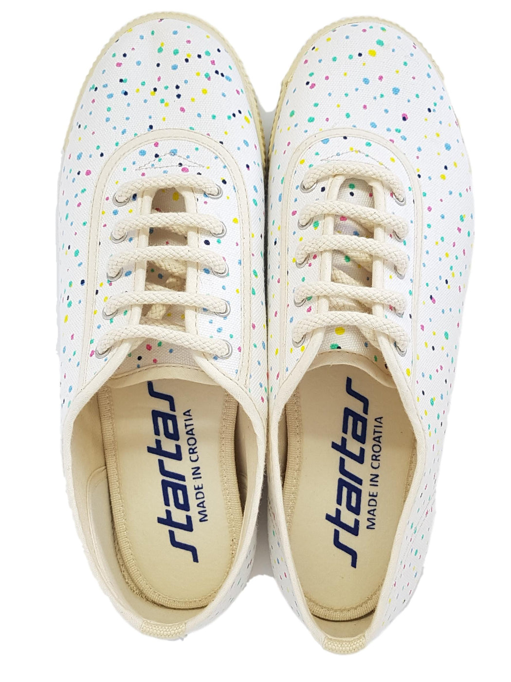 Startas happy canvas vegan sneaker