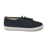 Startas basic black canvas shoe vegan