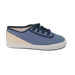 Startas kids Diagonal Blue canvas sneaker vegan
