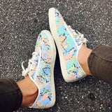startas marble girl canvas vegan sneaker