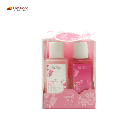 Bath Deluxe - Sweet Pea giftset 2 bottles in pvc box
