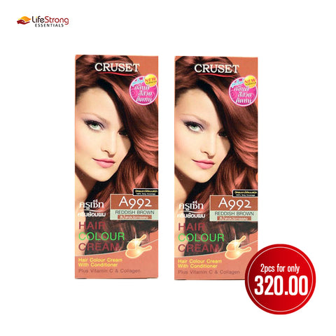 Cruset Hair Colour Cream 120ml - Reddish Brown