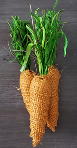 Set of 3 burlap carrots