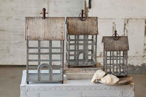 Set of 3 Metal Lanterns