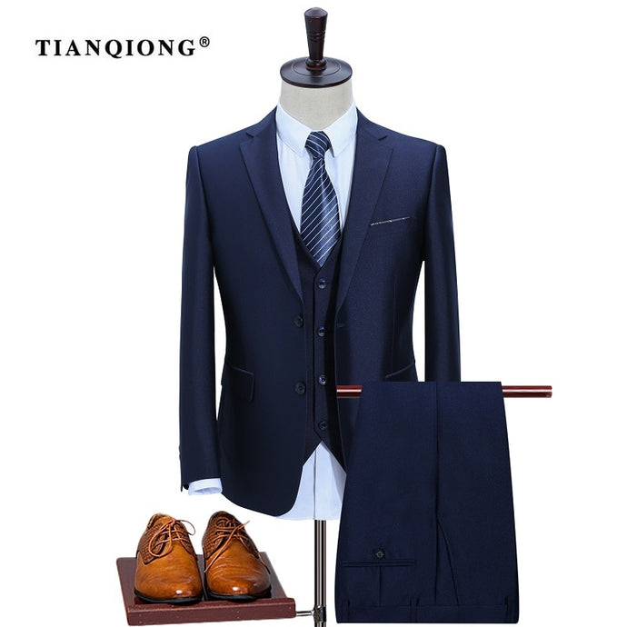 Mens Suit Slim Custom Fit