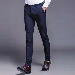 Long Male Classic Business Casual Trousers