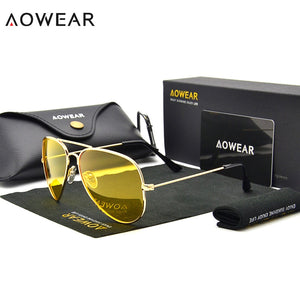 AOWEAR Brand 3025 Night Vision Sun Glasses