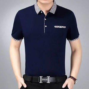Men's Knitted Print Polo Shirts