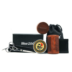 Blue Zoo 5 Pcs Portable Professional Beard Care Set
