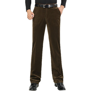 Autumn Men Classic Corduroy Formal Suit Pants