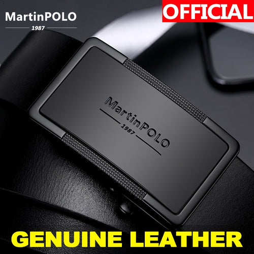 Martin Polo Genuine Leather Automatic Buckle Belt