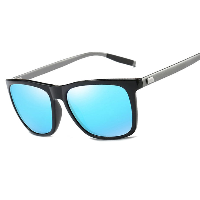Men Driving Square Black Frame Eyewear